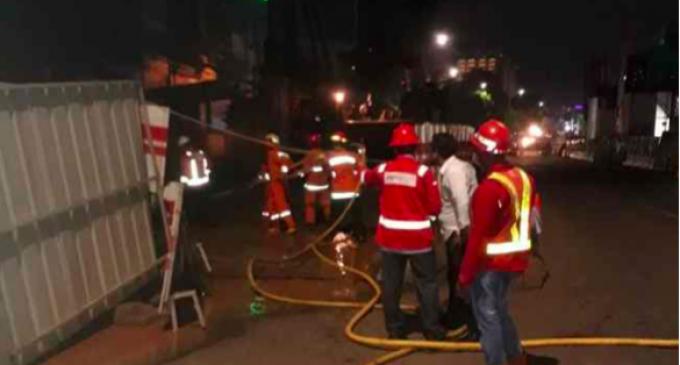 雅加达东区公路发生天然气管道泄漏事故  警方暂封锁交通